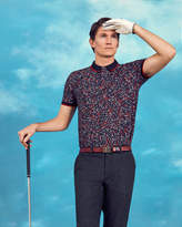 Ted Baker Golf Club Print Polo Shirt Navy