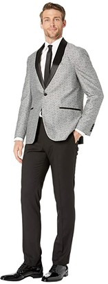 Kenneth Cole Reaction Shawl Collar Tuxedo with Stretch (Grey) Men's Suits Sets