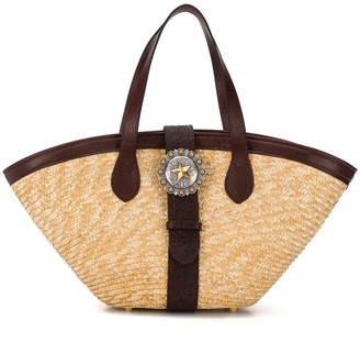 Kate Cate Woven Straw Beach Bag
