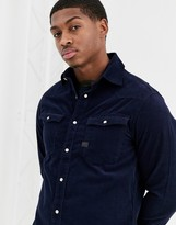 G Star G-Star 3301 slim fit cord shirt in blue