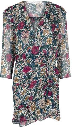 Veronica Beard Marilla Floral-print Silk-chiffon Mini Dress
