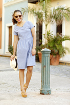 Shabby Apple Alicia Fit and Flare Dress Blue