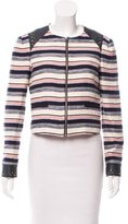 Rebecca Minkoff Stanford Leather Trimmed Blazer w/ Tags