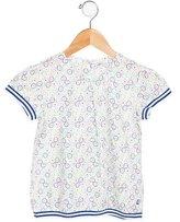 Petit Bateau Girls' Printed Short Sleeve Top