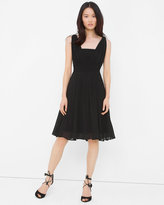 White House Black Market Genius Chiffon Convertible Black Dress