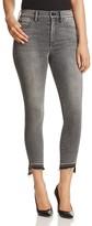 Level 99 Elle Released Hem Crop Skinny Jeans in Raven