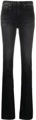 R 13 High-Rise Bootcut Jeans