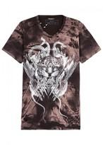 Balmain Distressed Printed Cotton T-shirt