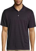 Haggar Short Sleeve Plaid Polo Shirt