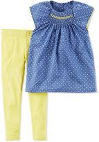 Carter's 2-Pc. Dot-Print Smocked Tunic & Leggings Set, Baby Girls (0-24 months)