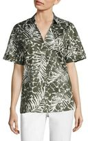 Lafayette 148 New York Damon Palm-Print Blouse