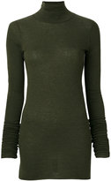 Rick Owens Lilies fitted knitted roll-neck top