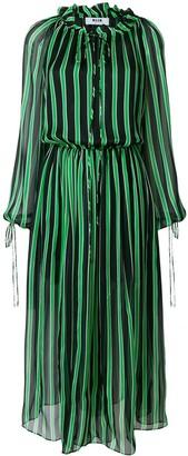 MSGM Billowing Striped Dress