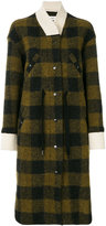 Etoile Isabel Marant checked button up coat - women - Cotton/Polyester/Wool/Other fibres - 36