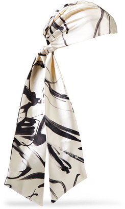 Eugenia Kim Gigi Printed Satin-twill Headscarf