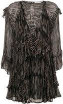 IRO sheer Canyon ruffled dress - women - Viscose - 34