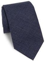 Brunello Cucinelli Houndstooth Silk Tie