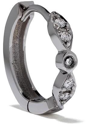 Feidt Paris 18kt white gold Charniere Les Eternels diamond creole hoop
