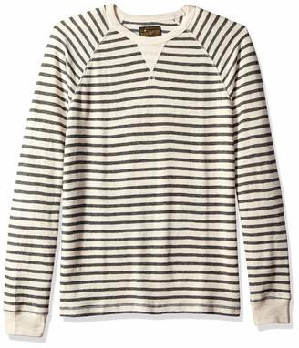 Lucky Brand Men's Long Sleeve Small Stripe Thermal Shirt
