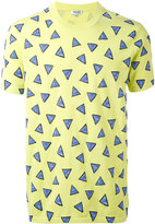 Kenzo triangle print T-shirt - men - Cotton - S