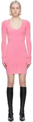 Helmut Lang Pink Rib Dress