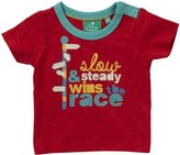 Little Green Radicals 'Slow & Steady Wins The Race' Tee (Baby) - Red-0-3 Months
