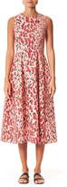 Carolina Herrera Leopard Print Poplin Midi Dress
