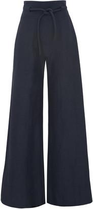 Martin Grant Rope-Detailed Linen-Blend Wide-Leg Trousers
