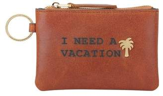 Most Wanted Design by Carlos Souza I Need a Vacation Leather Coin Wallet