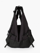 Cote & Ciel Black Leather And Canvas Ganges Backpack