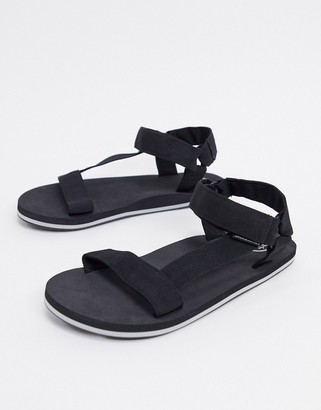 Jack and Jones tech sandals in black