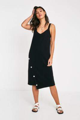 MinkPink Textured Knit Midi Dress - black XS at Urban Outfitters