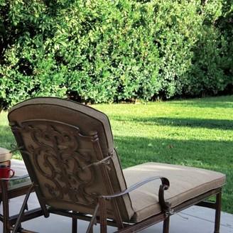 Fleur De Lis Living Batista Indoor/Outdoor Chaise Lounge Seat Cushion Fabric: Sesame