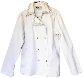 Byblos White Cotton Jacket for Women Vintage
