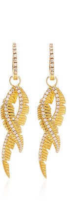 ESSERE Adornment Yellow-Gold and White Diamond Earrings