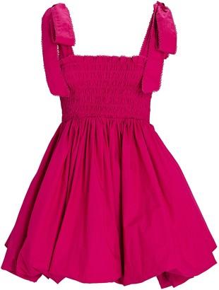 LoveShackFancy Amada Tie-Shoulder Bubble Dress