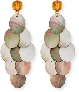 Nest Jewelry Mother-of-Pearl Cluster Drop Earrings