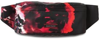 Alexander McQueen Floral Printed Nylon Belt Bag