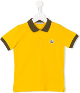 Moncler colour block polo shirt - kids - Cotton - 4 yrs