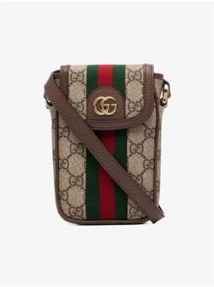 Gucci brown Ophidia GG Supreme iPhone mini bag