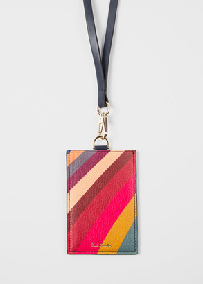 Paul Smith Women's Navy 'Swirl' Leather Lanyard Card Holder