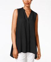 Alfani Petite Sleeveless Handkerchief-Hem Top, Only at Macy's