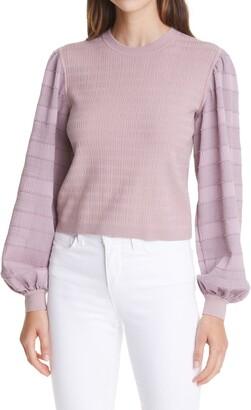 Club Monaco Woven Sleeve Sweater