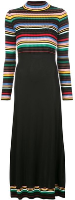 M Missoni Striped Top Maxi Dress