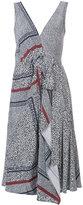 Derek Lam 10 Crosby embroidered flared dress - women - Silk - 0