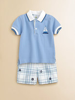 Florence Eiseman Toddler's & Little Boy's Embroidered Plaid Shorts