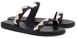 Ancient Greek Sandals Women's Paralia Color Blocked Scalloped Strap Slide Sandals