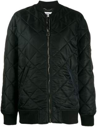 Moschino teddy quilted bomber jacket