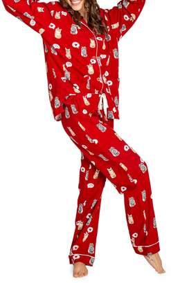 PJ Salvage Meow Furever 2-Piece Cotton Flannel Pyjama Set