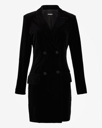 Express Velvet Double Breasted Blazer Dress
